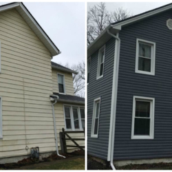 Overley Side Before and After