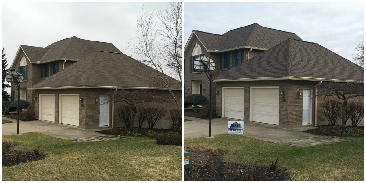Brown residence before and after