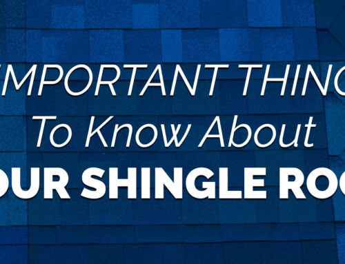3 Important Things To Know About Your Shingle Roof